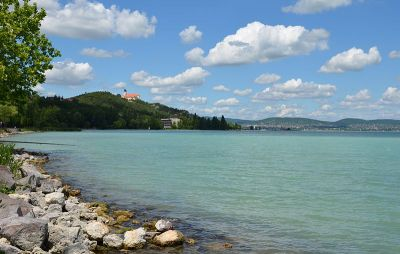 Lake Balaton and the town of Tihany in the background ©2012 Lohen11