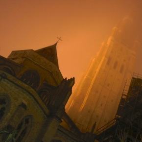 Foggy Winter Night in Bruges
